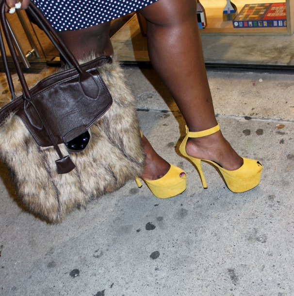 fur ans sky high heels